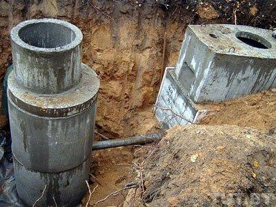 септик из бетонных колец не уходит вода